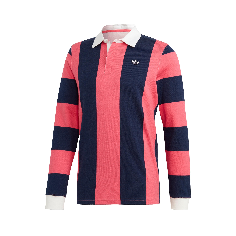 hotel Guiño director  adidas Originals Rugby Shirt (Night Indigo/Real Pink) - DU7852 - Consortium.