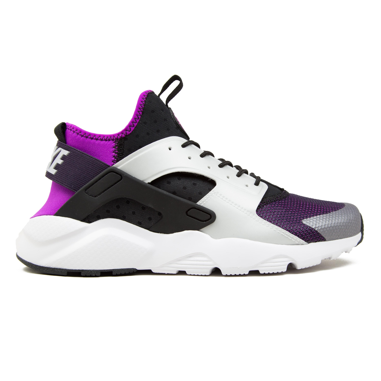 Nike Air Huarache Run Ultra (Black/Wolf Grey-Hyper Volt-Purple ...