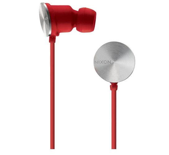 Nixon Wire 8 MM Headphones (Red)
