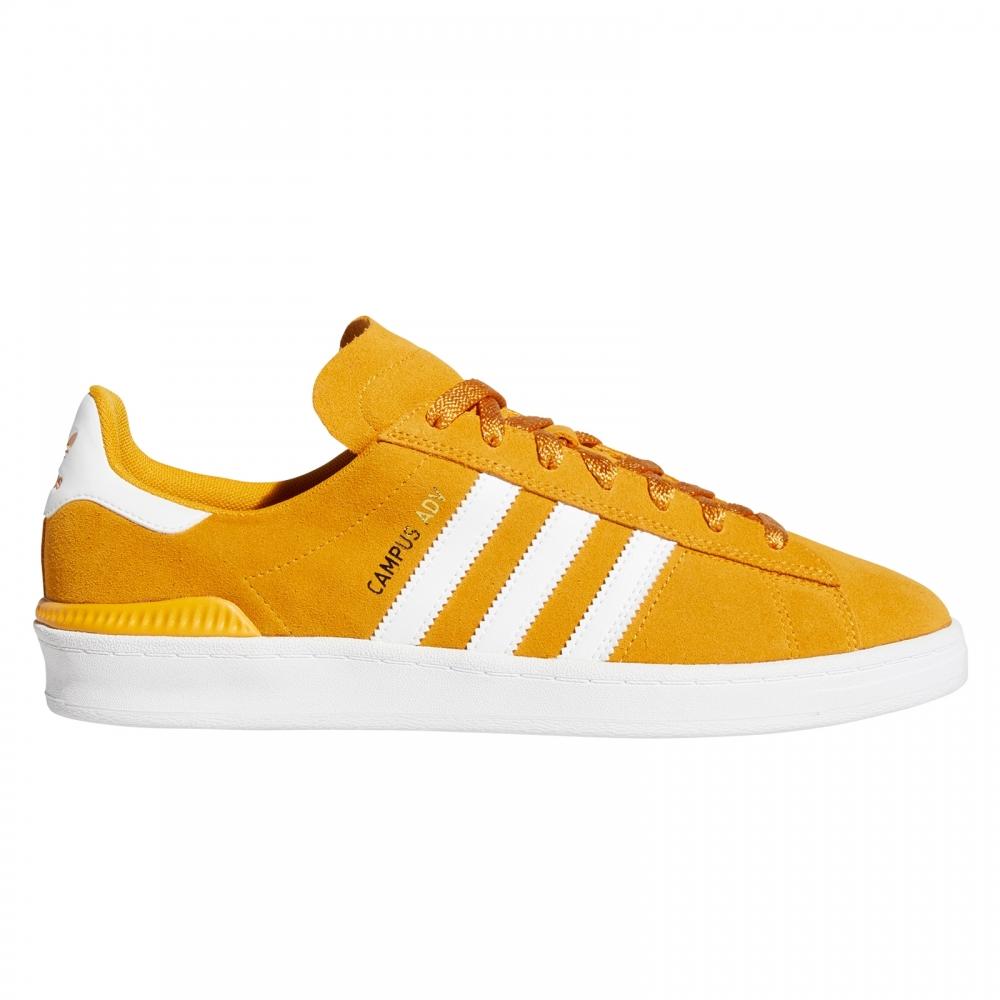 adidas Skateboarding Campus ADV (Tactile Yellow/Footwear White/Gold Metallic)