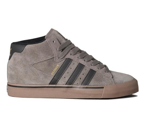 adidas Skateboarding Campus Vulc Mid (Iron/Black/Metallic Gold)