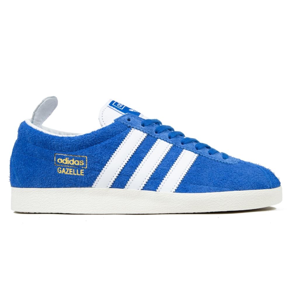 adidas Originals Gazelle Vintage (Blue/Footwear White/Gold Metallic)