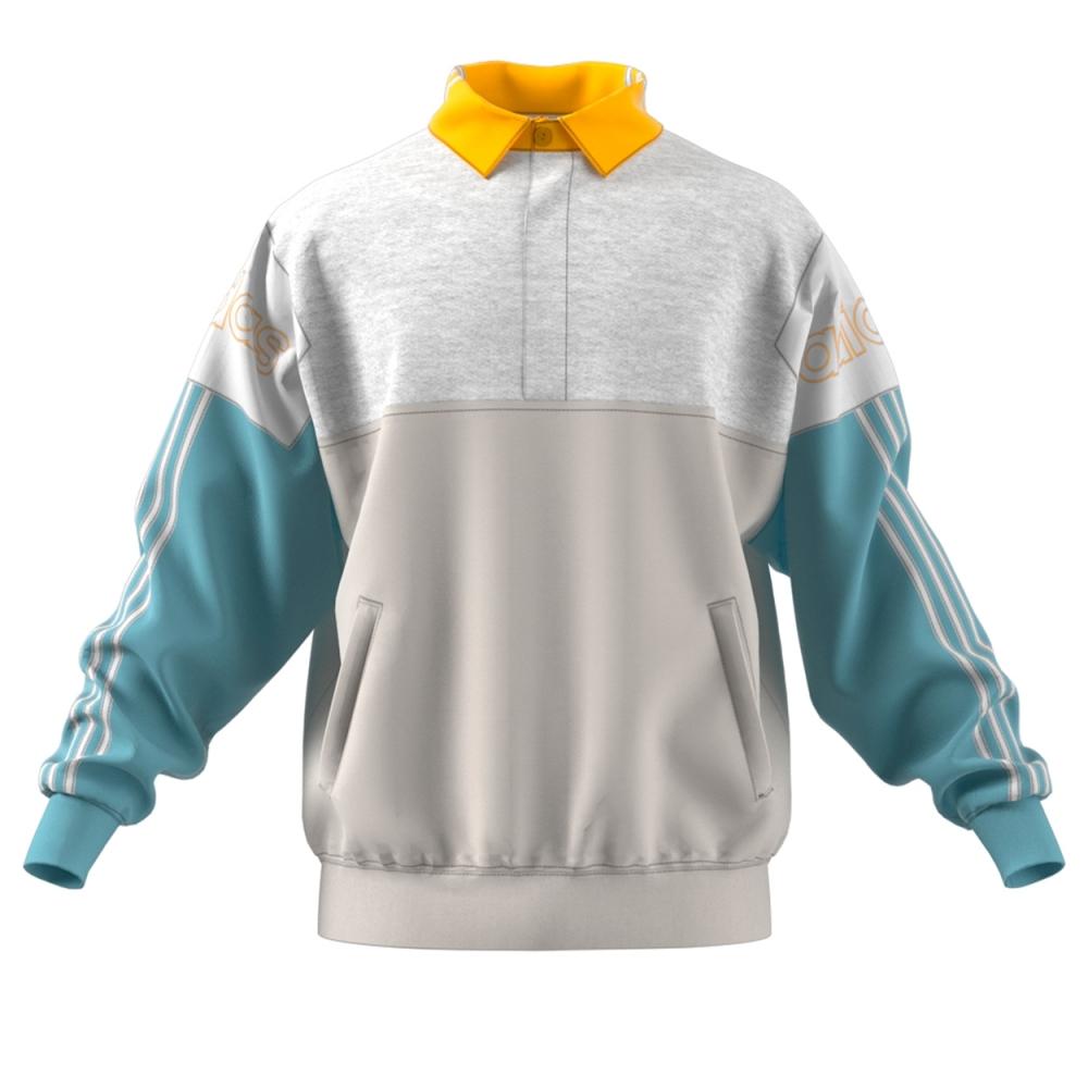 Basura Sociedad Abastecer  adidas Originals Tourney Rugby Sweatshirt (Raw White/Ash Grey) - DV3147 -  Consortium.