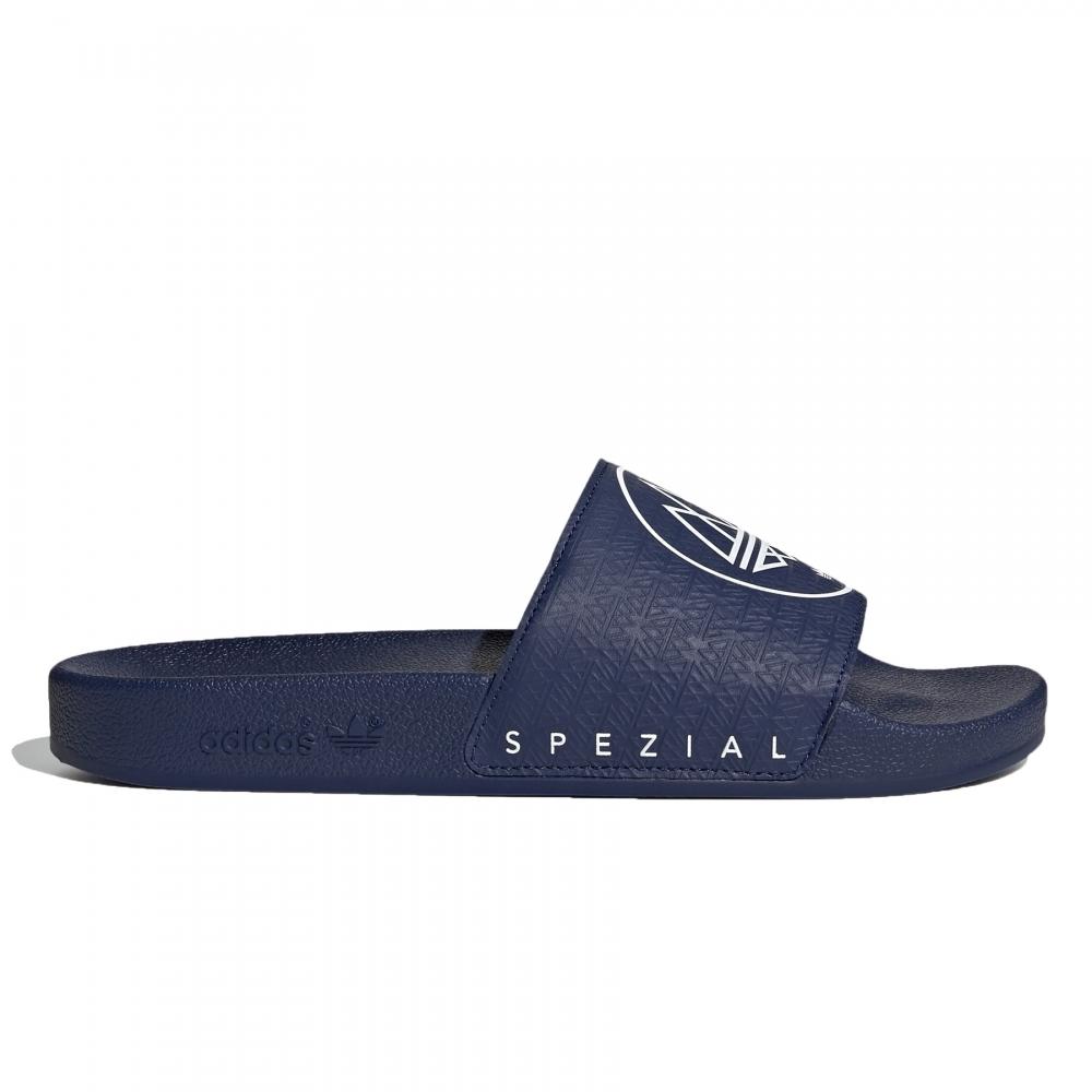adidas Originals x SPEZIAL Adilette SPZL (Dark Blue/Dark Blue/Footwear White)