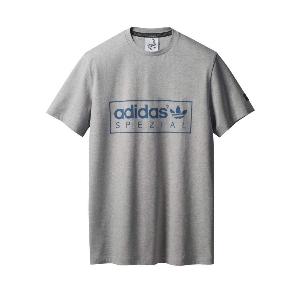 adidas Originals x SPEZIAL McLoughlin T-Shirt (Medium Grey Heather)