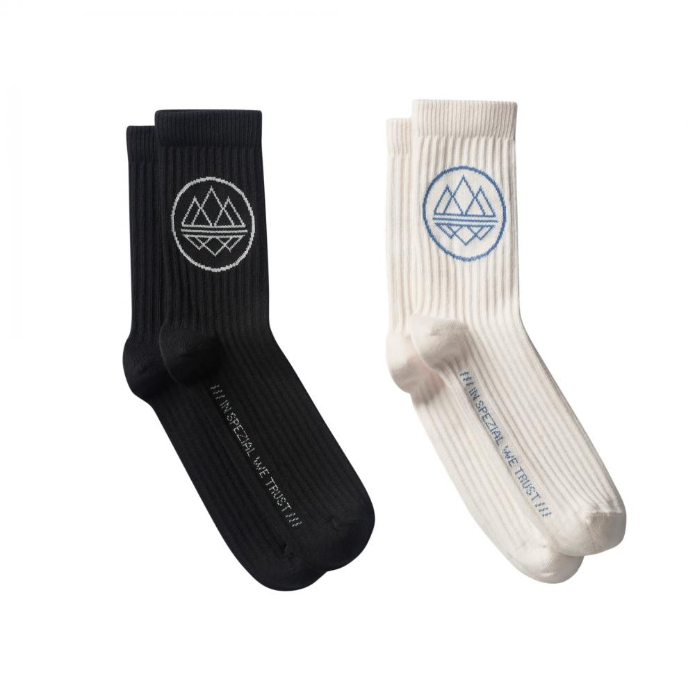 adidas Originals x SPEZIAL Mod Trefoil SPZL Sock 2 Pack (Black/Chalk White)