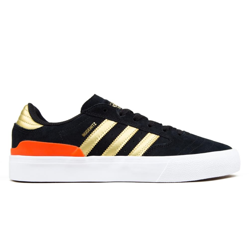 adidas Skateboarding Busenitz Vulc II (Core Black/Gold Metallic/Solar Red)