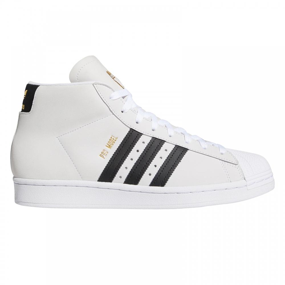 adidas Skateboarding Pro Model (Footwear White/Core Black/Gold Metallic)