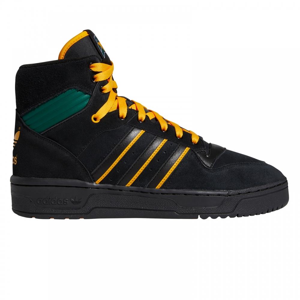 adidas Skateboarding Rivalry Hi OG 'Na-Kel' (Core Black/Collegiate Gold/Collegiate Green)