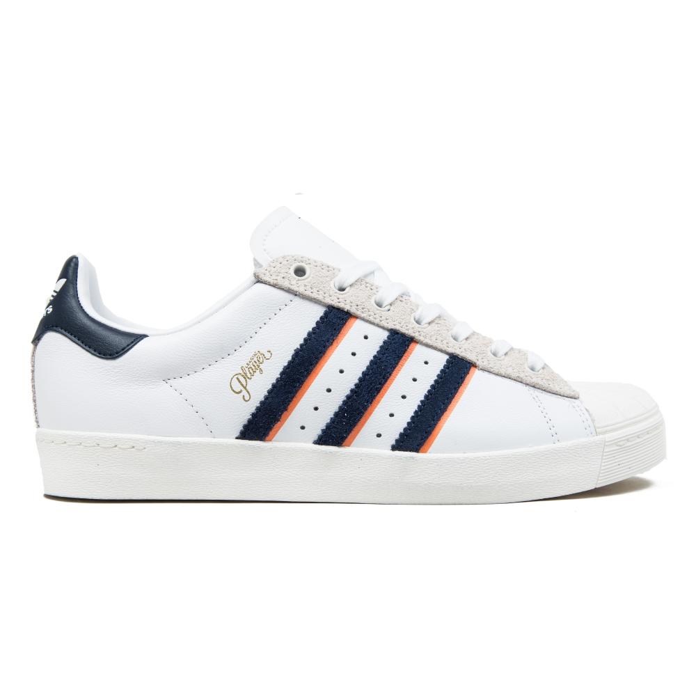 adidas Skateboarding x Alltimers Superstar Vulc (Footwear White/Collegiate Navy/ST Tropic Melon S14)