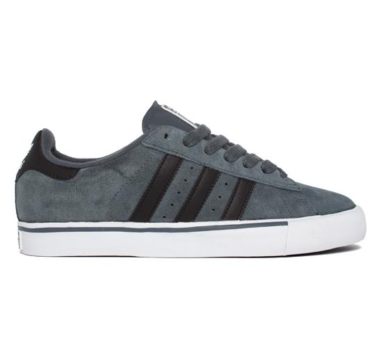 adidas Skateboarding Campus Vulc (Lead/Black/Running White)