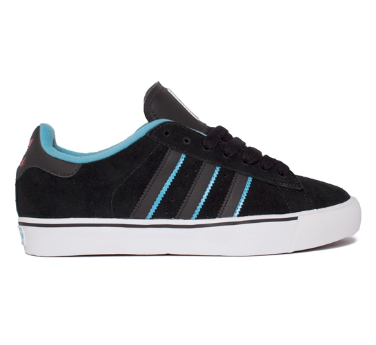 adidas Skateboarding Campus Vulc (Black/Light Aqua/Light Scarlet)
