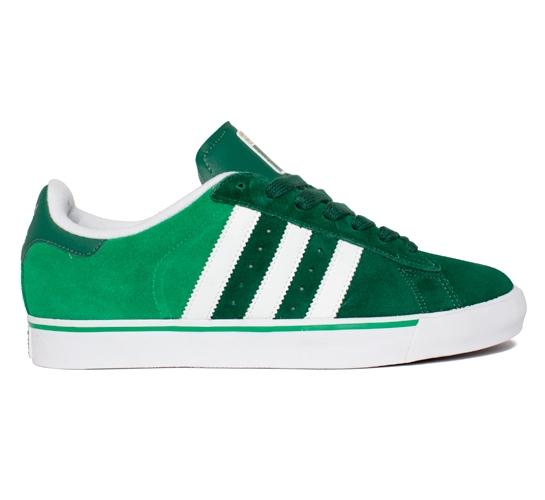 adidas Skateboarding Campus Vulc (Dark Green/Fairway/Running White)