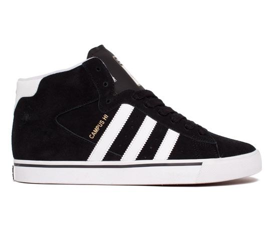 adidas Skateboarding Campus Vulc Mid (Black/Running White/Metallic Gold)