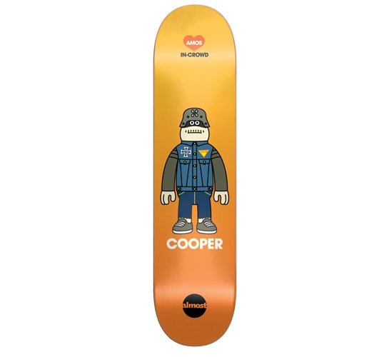 """Almost Skateboard Deck - 7.9"""" Cooper (Amos In-Crowd)"""