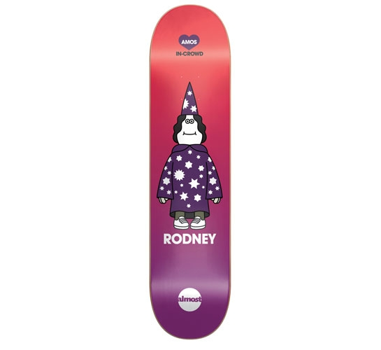 "Almost Skateboard Deck - 7.8"" Rodney(Amos In-Crowd)"