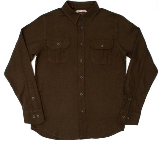Altamont Men's Shirt - Covert Flannel (Heather Brown)
