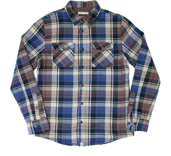Altamont Men's Shirt - Dirty Biz Thermal Flannel (Blue)