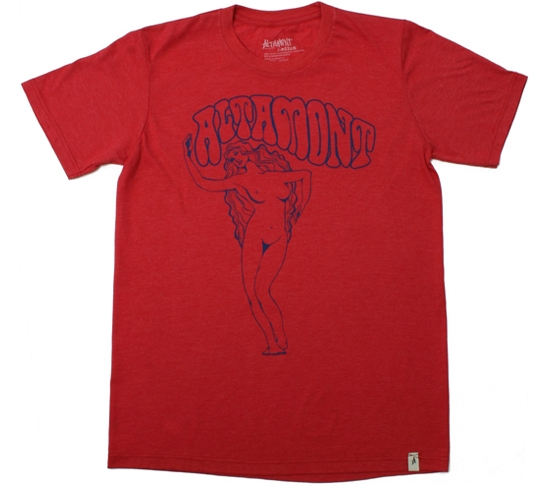 Altamont Men's T-Shirt - Hippy Chick (Heather Red)