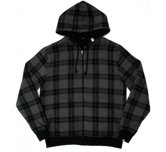 Altamont Men's Hoodie - Two Bits Reversible Zip (Black)