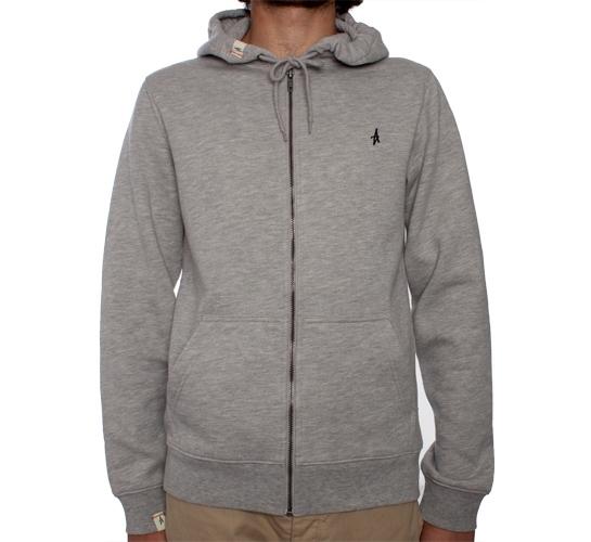 Altamont Basic Zip Hood (Grey Heather)