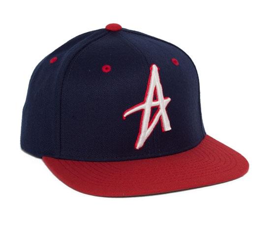 Altamont Decades Starter Snapback Cap (Navy/Red)