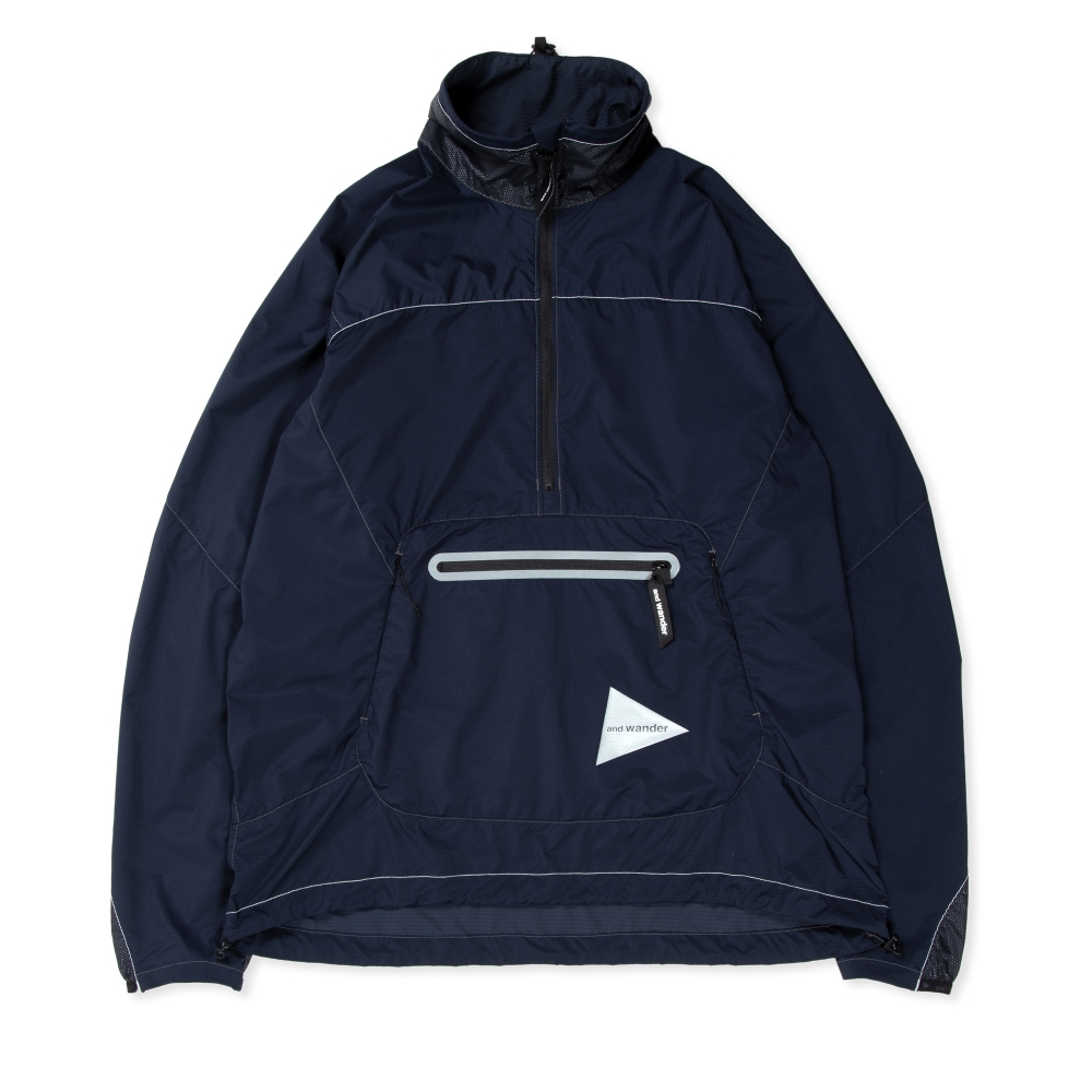 and wander Weave Windy Pullover Jacket (Navy)