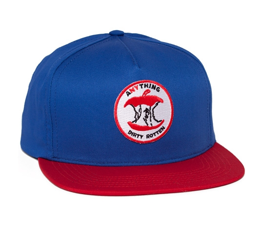 aNYthing Rotten Apple Snapback Cap (Blue/Red)