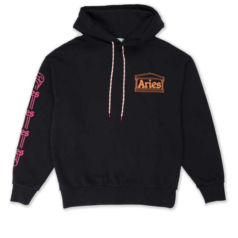 Aries Column Pullover Hooded Sweatshirt (Black)