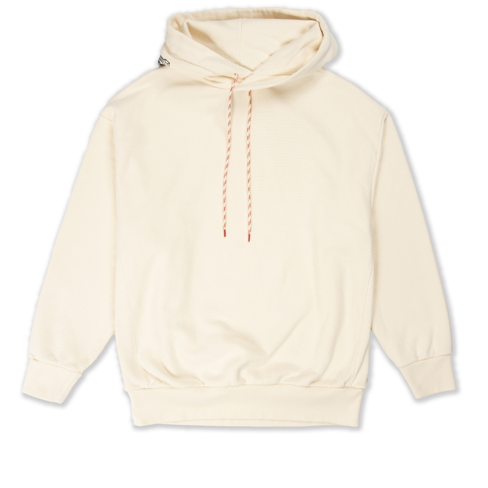 Aries Temple Hood Pullover Hooded Sweatshirt (Alabaster)