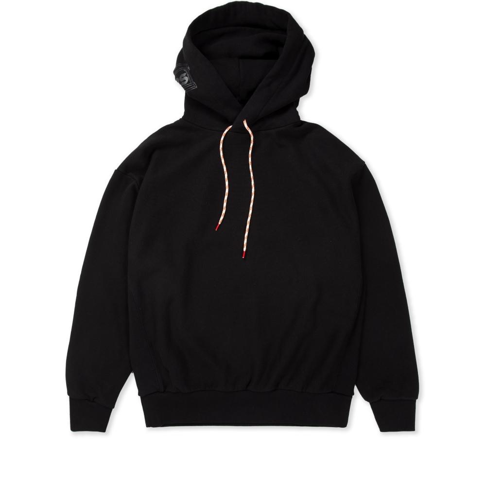 Aries Temple Hood Pullover Hooded Sweatshirt (Black)