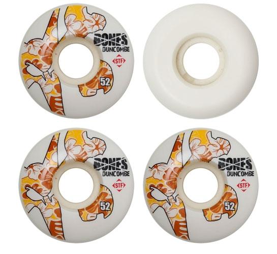 Bones Skateboard Wheels - 52mm Duncombe Icon STF (White)