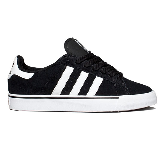 adidas Skateboarding Campus Vulc (Black 1/Running White/Black 1)