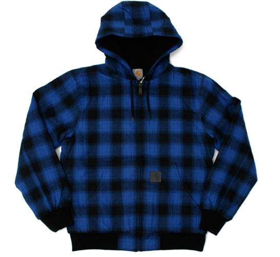 Carhartt Men's Jacket - Active Matrix Check (Blue)