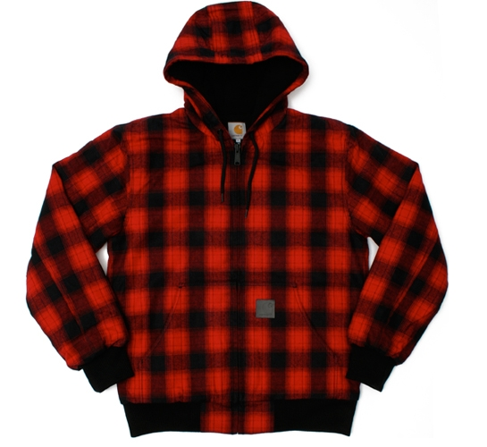 Carhartt Men's Jacket - Active Matrix Check (Ruby)