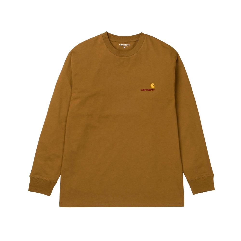 Carhartt American Script Long Sleeve T-Shirt (Hamilton Brown)