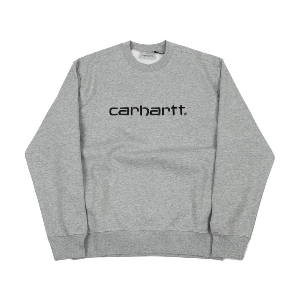 Carhartt Crew Neck Sweatshirt (Grey Heather/Black)