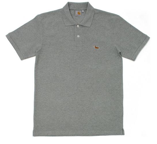 Carhartt Men's Polo Shirt - S/S Duck Polo (Grey)
