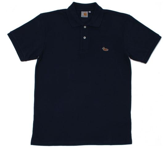 Carhartt Men's Polo Shirt - S/S Duck Polo (Navy)