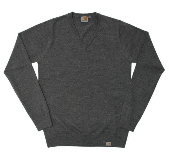 Carhartt Men's Sweater - Playoff V-Neck (Dark Grey)