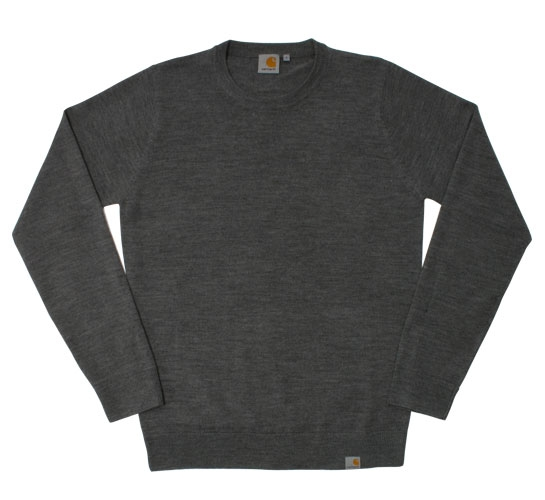 Carhartt Men's Sweater - Playoff (Dark Grey Heather)