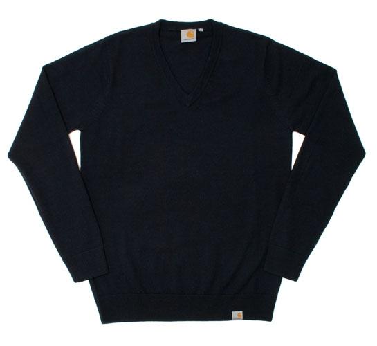 Carhartt Men's Sweater - Playoff V-Neck (Dark Navy)