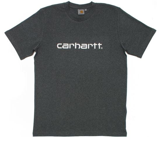 Carhartt Men's T-Shirt - S/S Script T-Shirt (Grey Heather)
