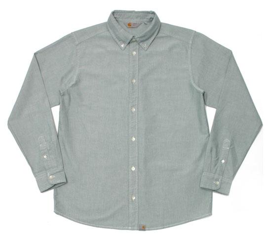 Carhartt Men's Shirt - L/S Button Down Shirt (Emerald)