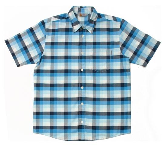 Carhartt Men's Shirt - S/S Folsom Shirt (Blue)