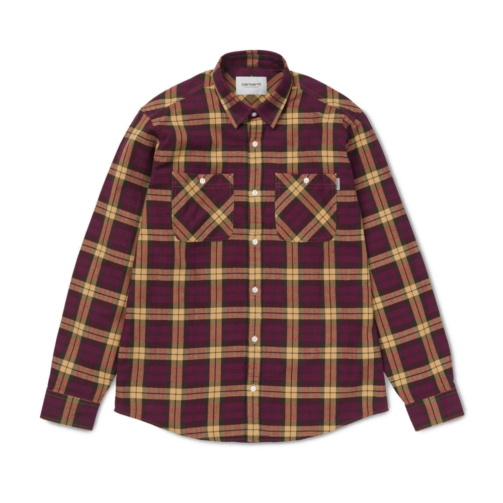 Carhartt Sloman Long Sleeve Shirt (Mulberry/Fawn)