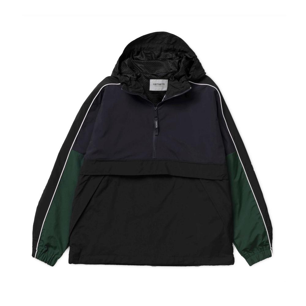 Carhartt Terrace Pullover Half Zip Jacket (Dark Navy/Black/Bottle Green)