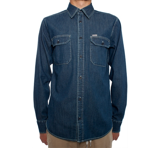 Carhartt L/S Wing Shirt (Blue Stone Washed)