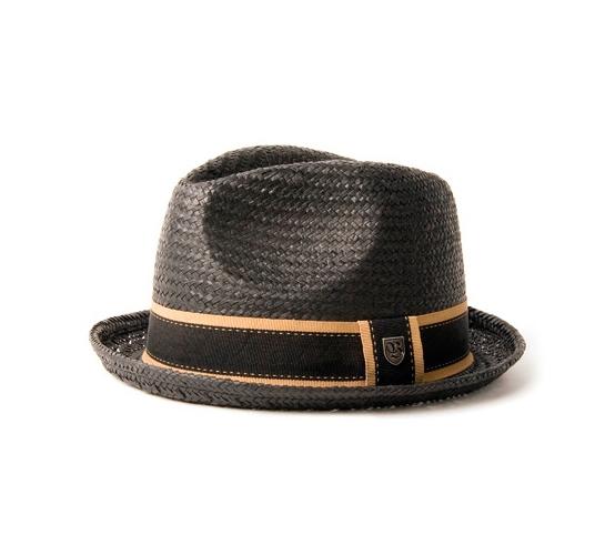 Brixton Hat - Castor (Black Straw)