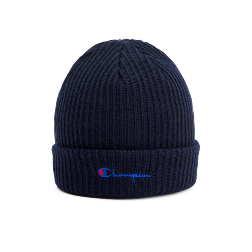 Champion Reverse Weave Merino Wool Blend Script Logo Beanie (Black)